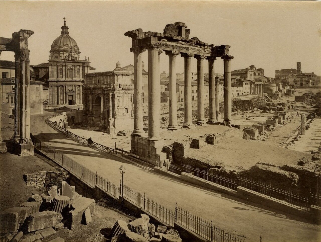 Храм Конкордии на Римском Форуме. 1870.