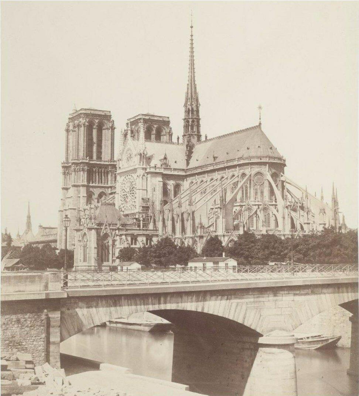 1880. Вид Нотр-Дам де Пари и набережной Сены
