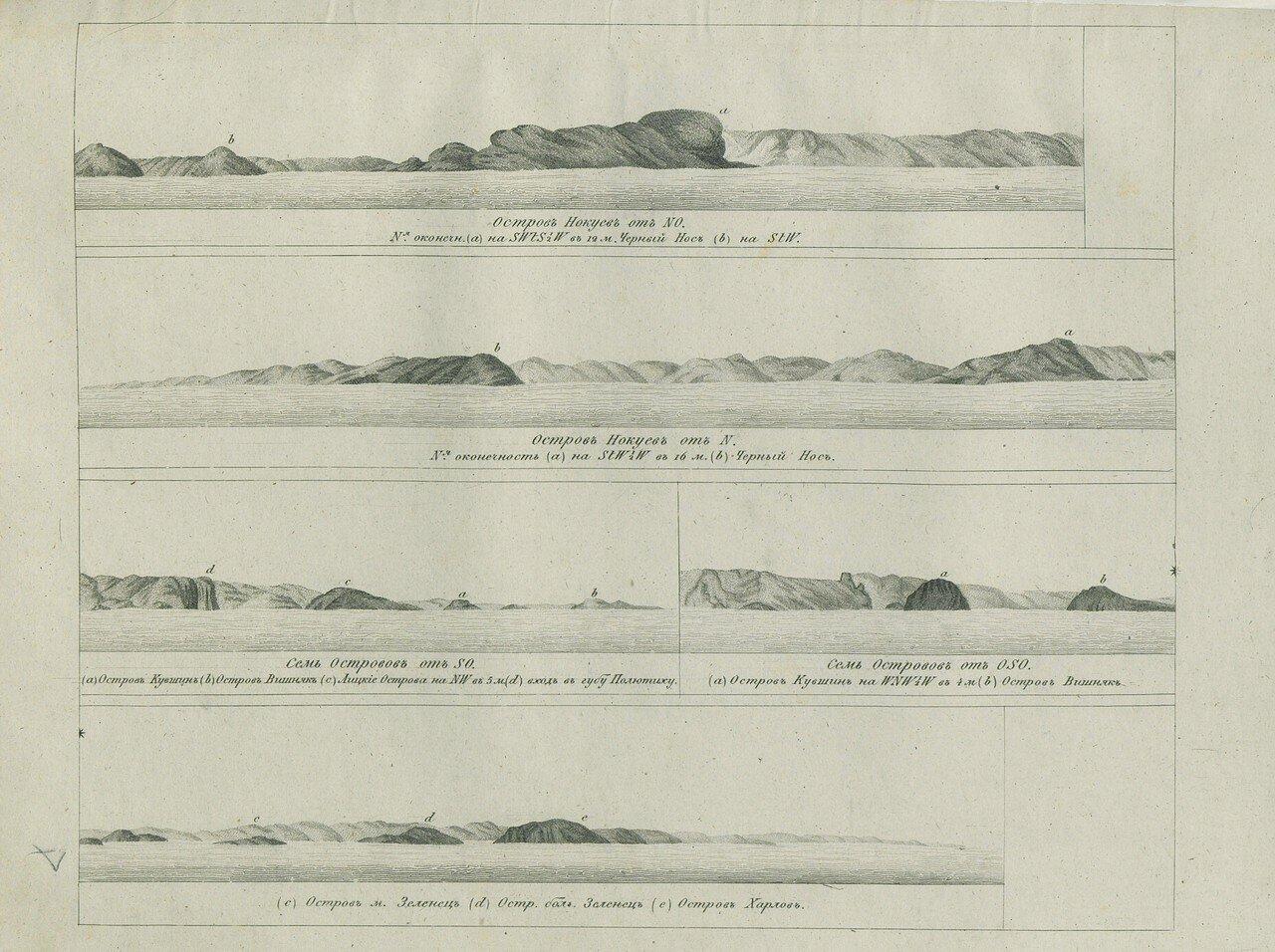 Остров Нокуев от северо-запада и севера. Семь островов от северо-запада