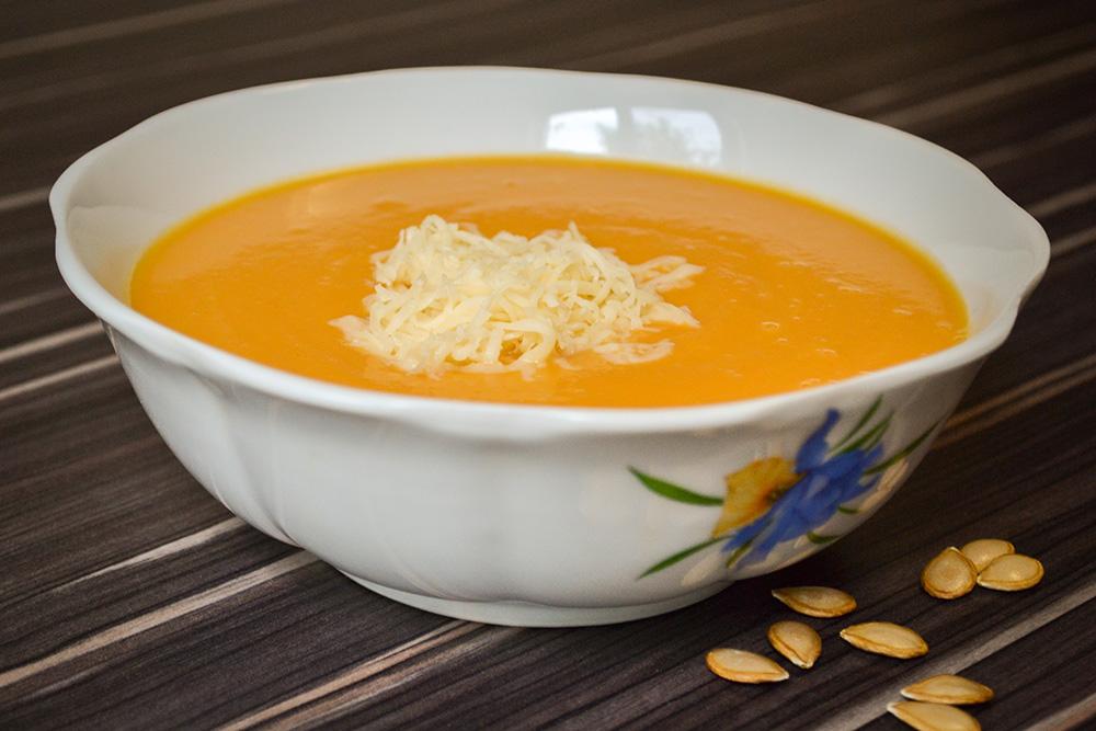 Тыквенный суп-пюре с сыром рецепт с фото