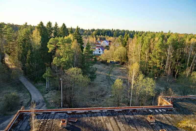 Вид с крыши, Разграбленный пансионат Голубое озеро, Одинцовский р-н