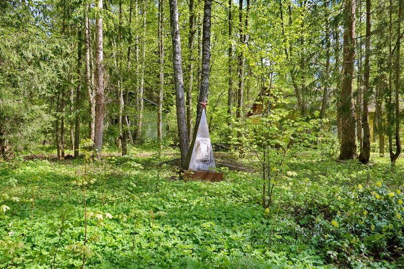 Заброшенный памятник ВОВ на территории пионерлагеря Щербаковец