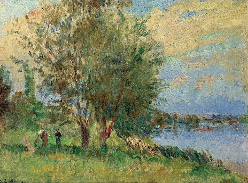 Albert Lebourg - The Figures on the Riverbank.jpeg