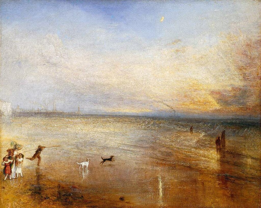 The New Moon; or, 'I've lost My Boat, You shan't have Your Hoop' exhibited 1840 by Joseph Mallord William Turner 1775-1851