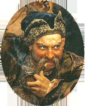 Ivan_Sirko_Фрагмент картины И. Е. Репина Запорожцы.png