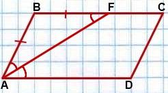 bissektrisa parallelogramma otsekaet ravnobedrennyiy treugolnik