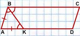 Bissektrisa tupogo ugla parallelogramma delit