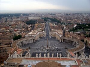 Рим. Колоннада собора св. Петра