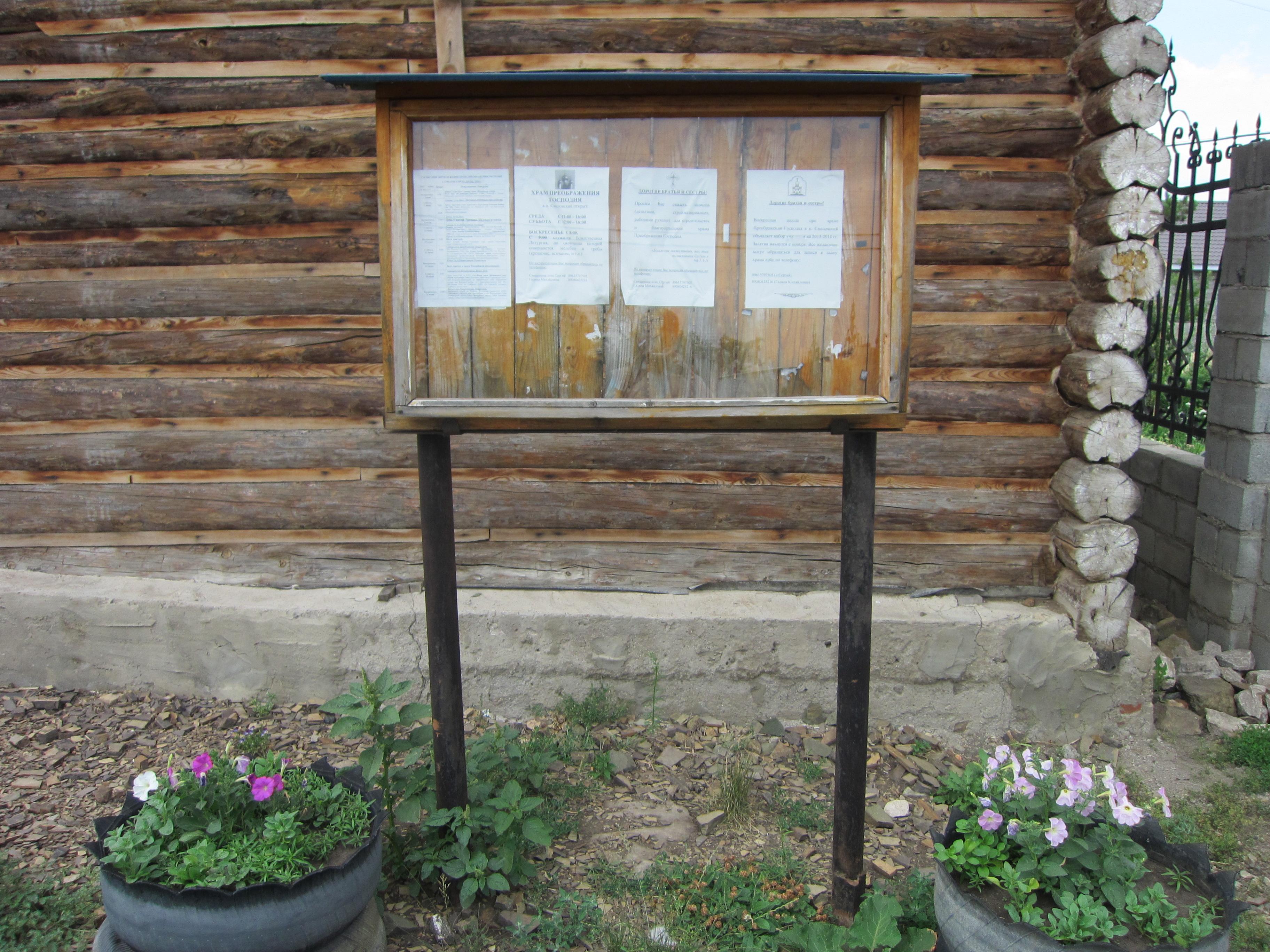 Уютная деревенская зарисовка - деревянный сруб, цветы в клумбах... (09.07.2014)