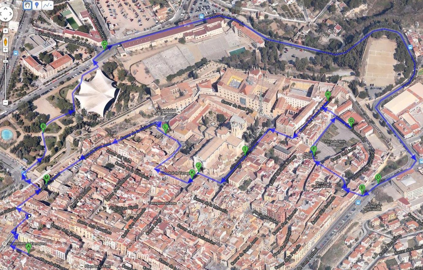Таррагона. Маршрут прогулки по Верхнему городу
