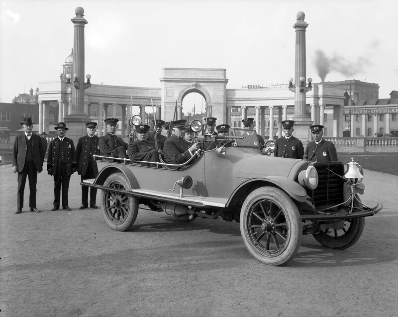 Denver's Auto Bandit Chaser in the Civic Center Neighborhood of Denver, Colorado, 1921 March