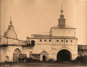 Вид на Никольскую церковь бывшего Успенского Горицкого монастыря.