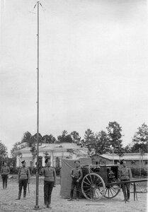 Полевая радиостанция Робтит с мачтой Фаянс.