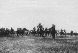 Прибытие императора Николая II в Белгород к месту расположения войск, отправляемых на Дальний Восток.