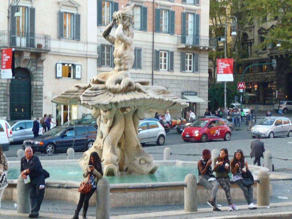 """Пл. Барберини, фонтан """"Тритон"""""""
