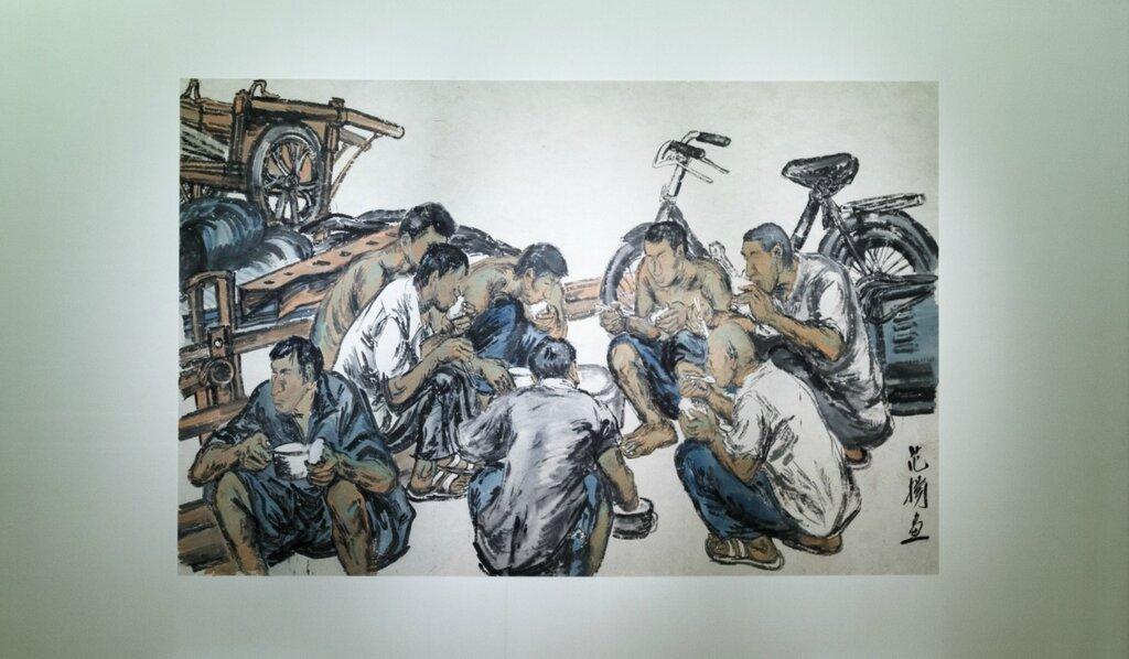 Фань Ян. Обеденный перерыв на рабочей площадке