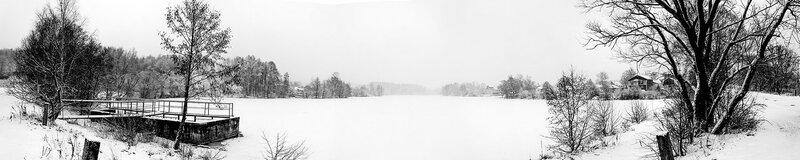Панорама пруда. Весна и зима - с интервалом в 1 день !