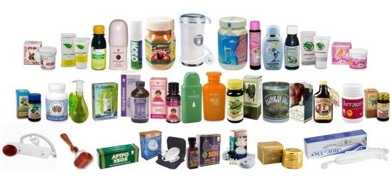 ассортимент компании АРГО товары для здоровья и красоты