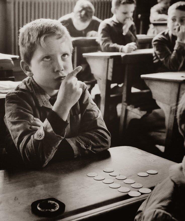 1956. Портрет школьника