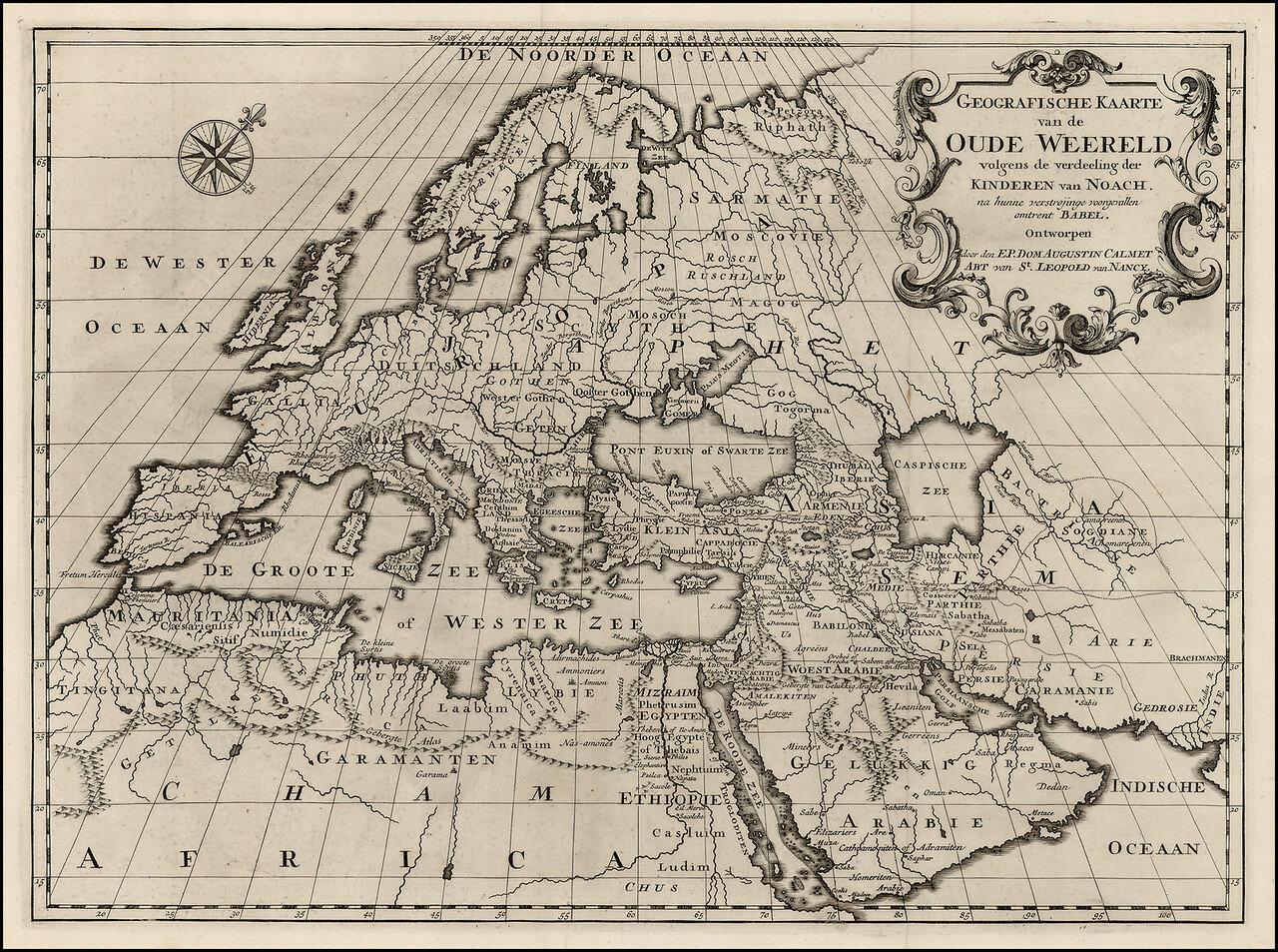 1726. Карта Европы и Средиземноморья