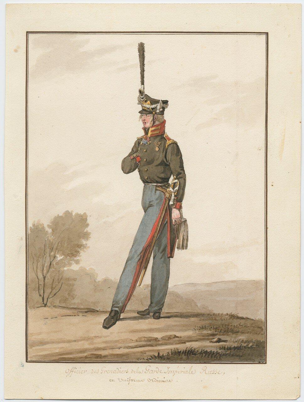 Офицер гренадерского полка русской императорской гвардии в обычной форме, 1815
