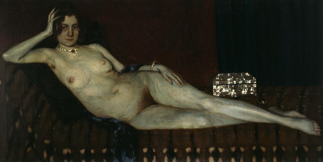 Золото и перламутр, 1909, Оскар Цвинчер(1870-1916), позирует жена художника Адель Цвинчер