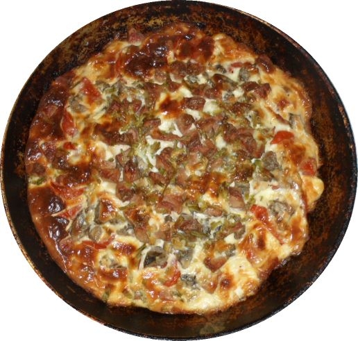 Пицца на картофеле