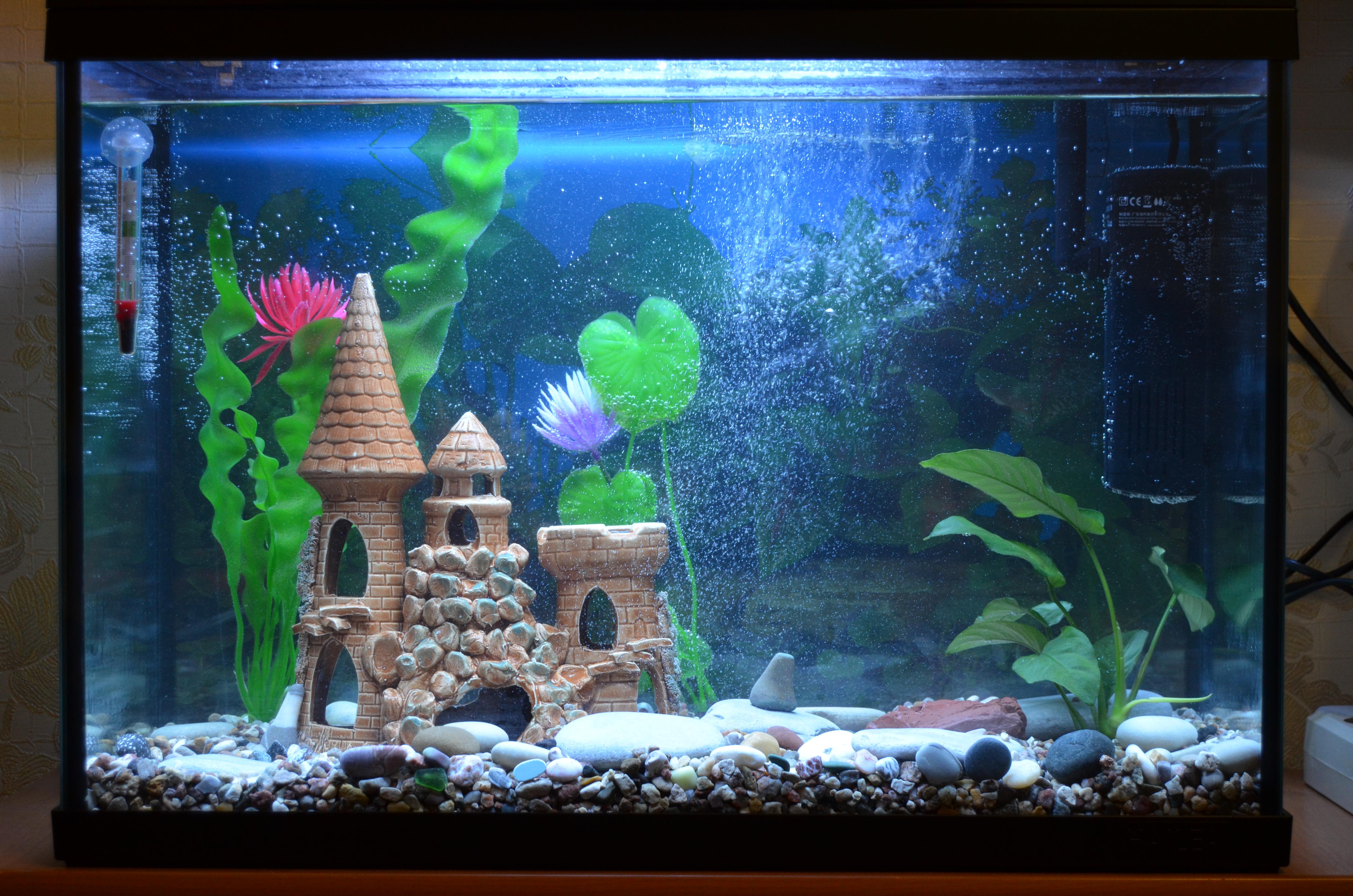 Как своими руками сделать замок в аквариуме 42