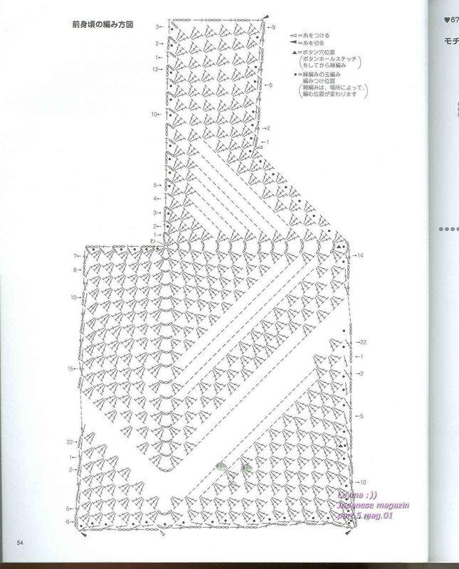 Жилет из квадратов крючком со схемами