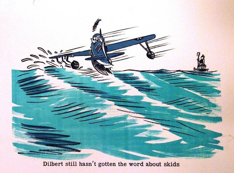 Dilbert still hasn't gotten the word about skids