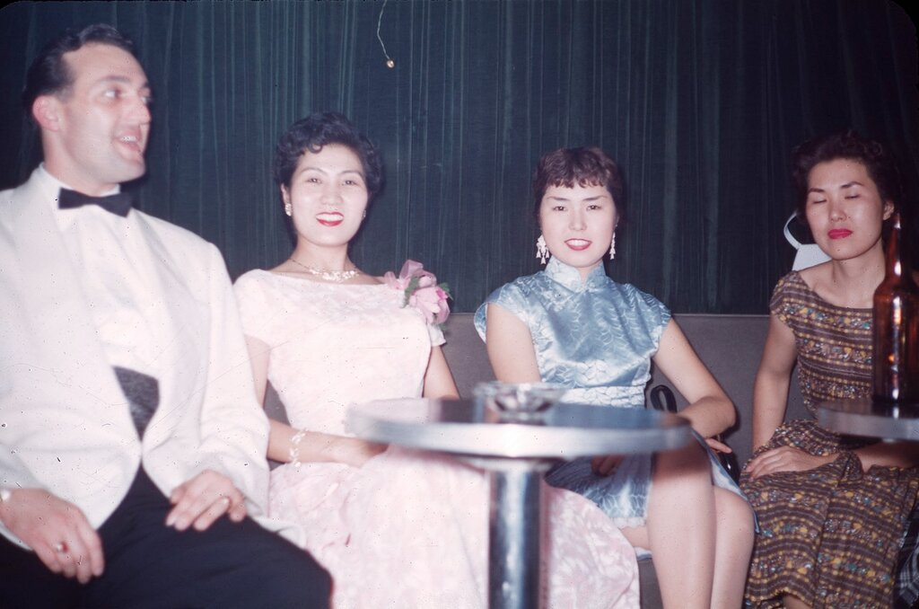 At the Queen Bee Cabaret, 1956