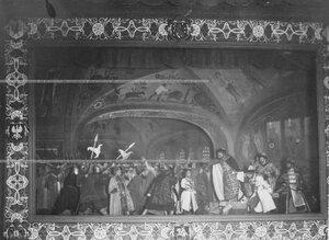 """""""Расправа Ивана IV с боярами"""" - сцена из постановки живых исторических картин."""