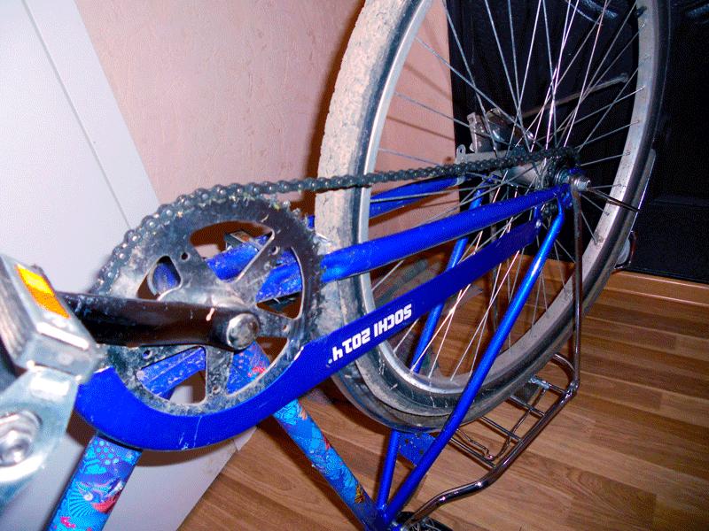 Смазка цепи велосипеда