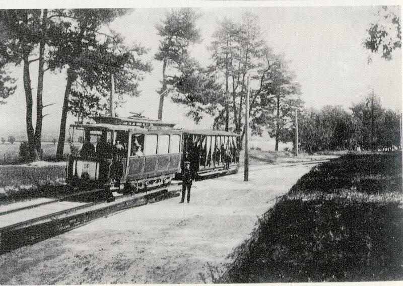 Фото начала ХХ века. Трамвай в районе нынешней площади Шевченко