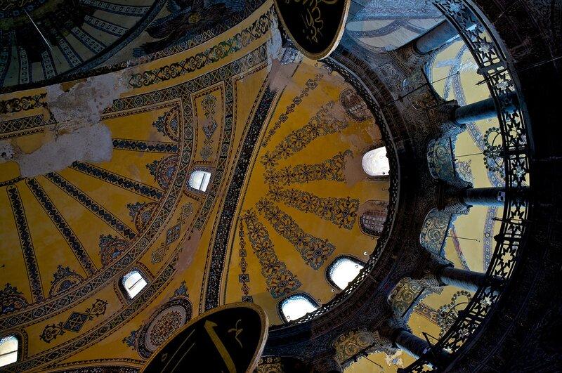 Стамбул. Купола Айя Софии.