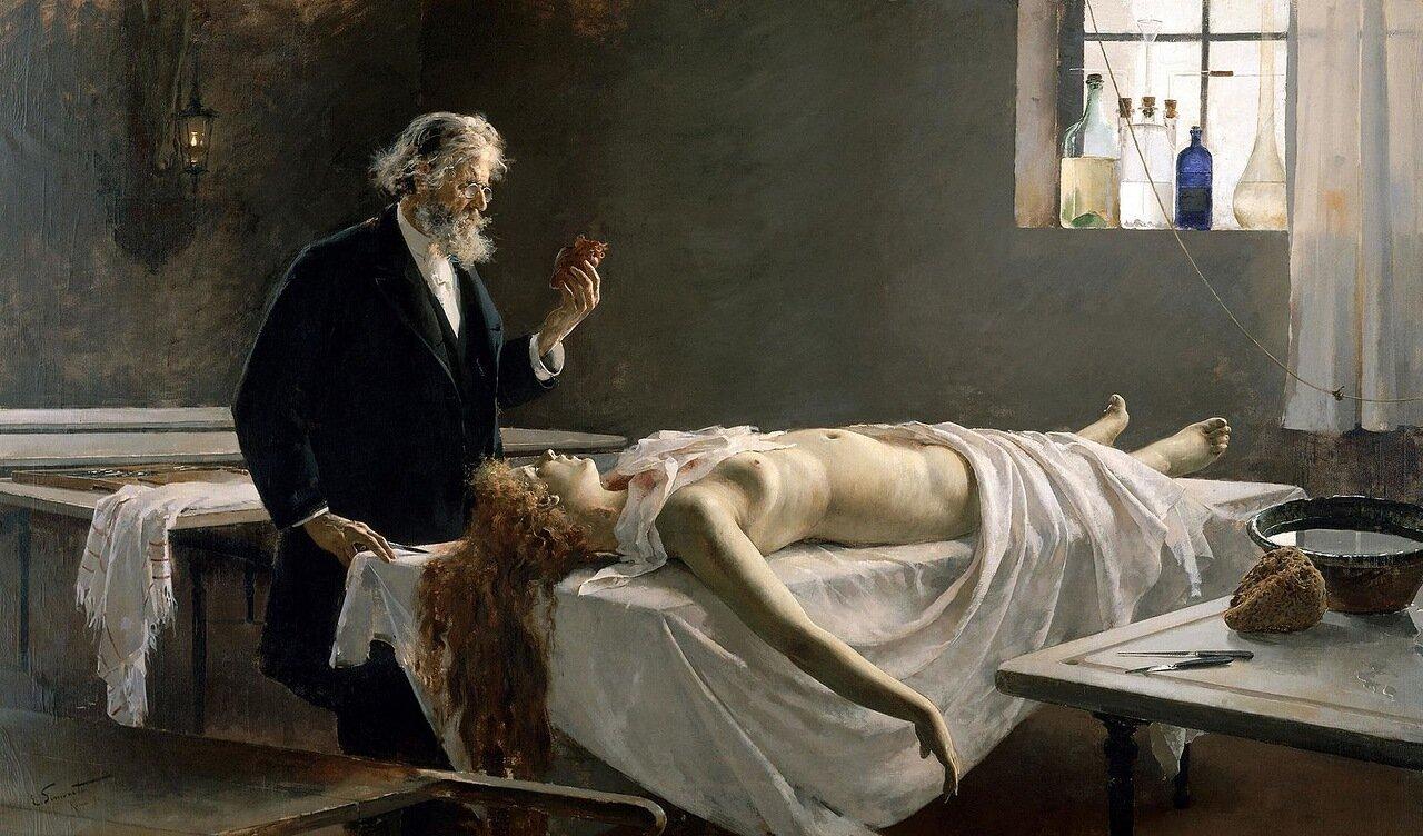 """""""У нее было сердце!"""", 1890 г. Энрике Симоне Ломбардо."""