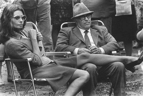 Софи Лорен и Карло Понти. В перерыве съёмок фильма Подсолнухи, 1970. Фото Валерия Генде-Роте