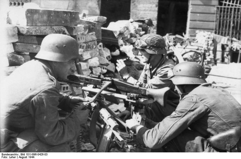 Warschauer Aufstand, MG-Stellung
