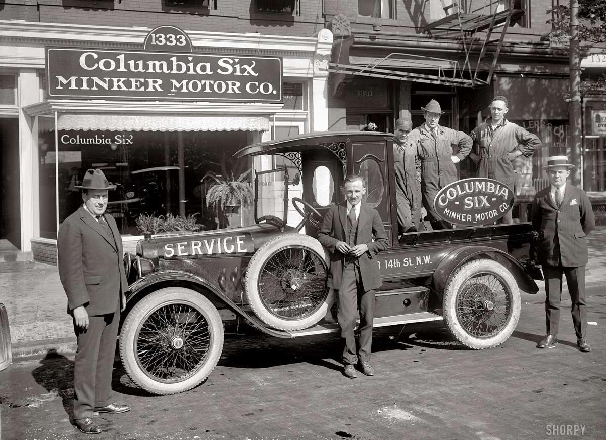 Грузовые автомобили начала 20-го века на снимках американских фотографов (14)