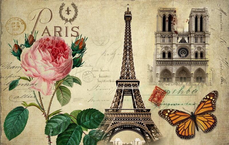 Франция открытка, днем свадьбы родителям