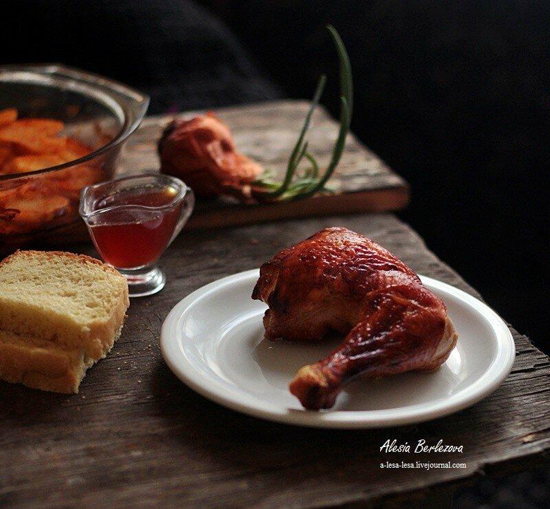 Курица в карамельном маринаде