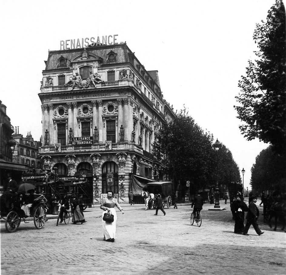 1906. Бульвар Сен-Мартен. Театр «Ренессанс»