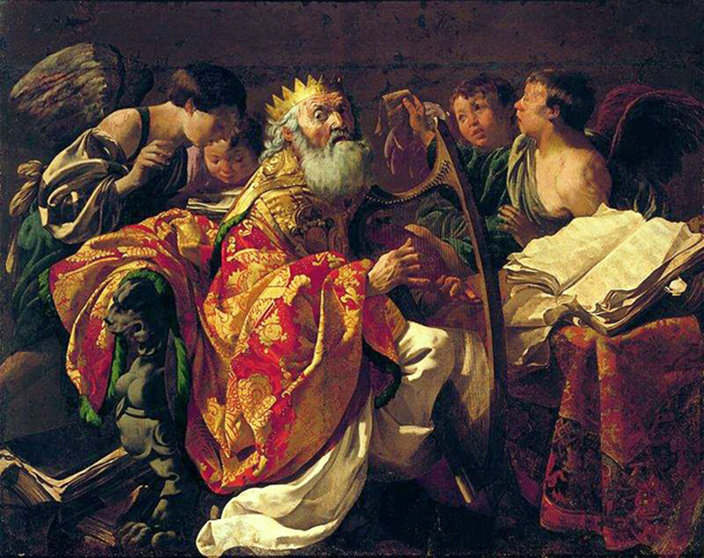 King David playing the harp. 1628, Hendrick ter Brugghen (1588-1629), National Museum in Warsaw