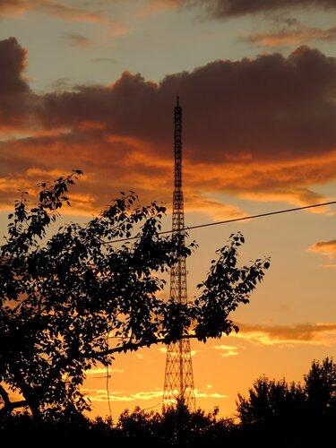 Золотой августовский закат
