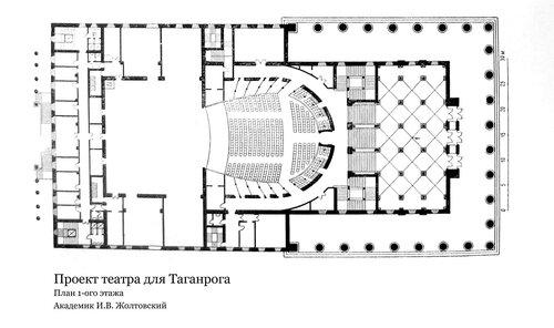 Проект театра для Таганрога, план