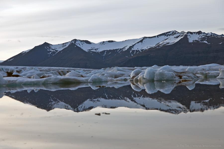 11. Тихий вечер у Ледниковой лагуны.