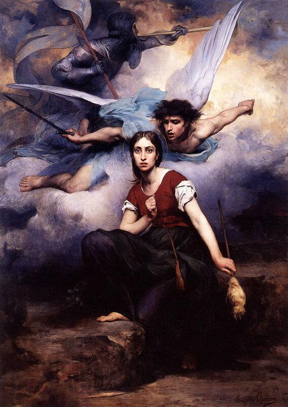 Эжен Тирион. Явление архангела Михаила Жанне д'Арк, 1876.