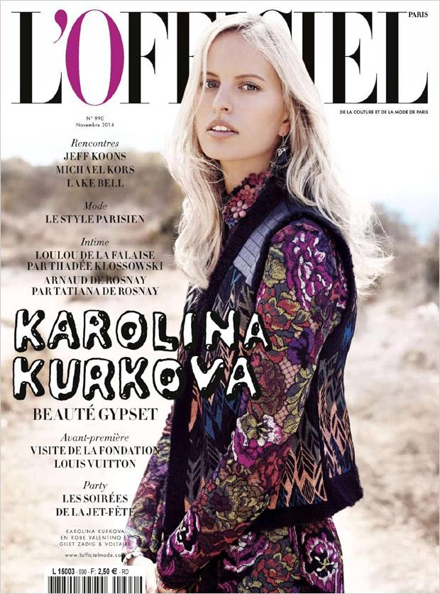 Каролина Куркова (Karolina Kurkova) в журнале L'Officiel Paris