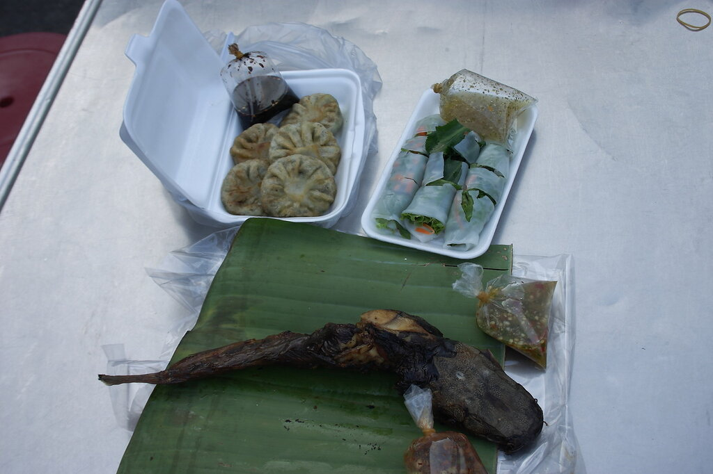 Печёные сомы в Таиланде