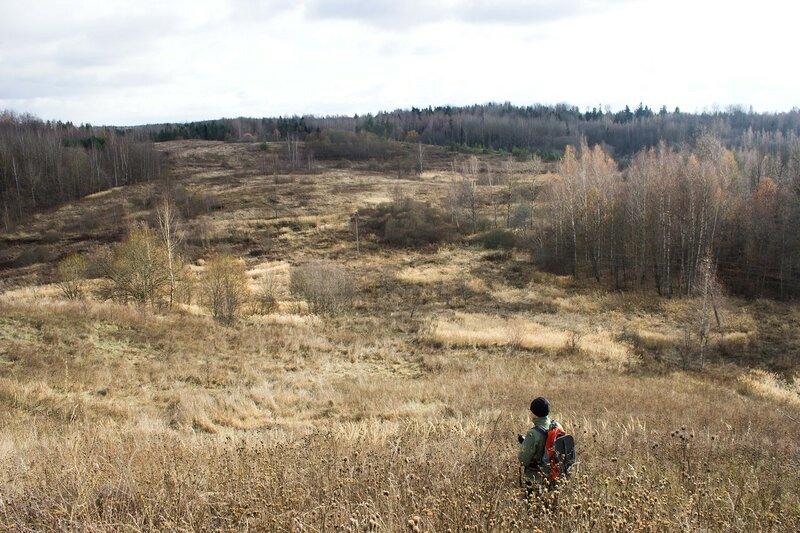 Псковская область, ноябрь, вид с холма